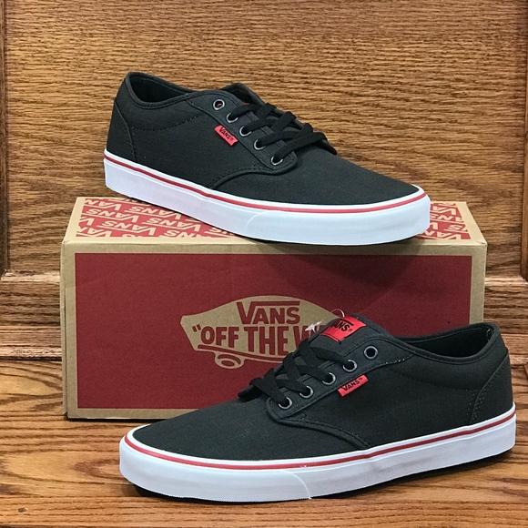 f81999f75efa19 Vans Atwood Rock Textile Black Red Shoes